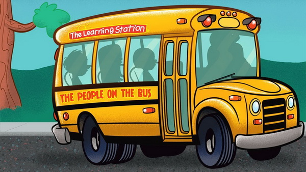 The Wheels on the Bus Go Round and Round karaoke and lyrics - Songs for Children